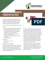 Polished Rod Dynamometer Transducer Data Sheet