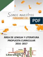 Lengua-propuesta Curricular 2016
