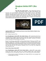 Cara Menghilangkan Infeksi HPV Jika Sudah Timbul