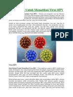 Obat Herbal Untuk Mematikan Virus HPV