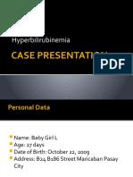 Hyperbilirubinemia Case Presentation