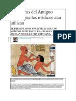 4 Prácticas Del Antiguo Egipto Que Los Médicos Aún Utilizan