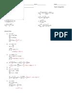 Integral Calculus Basic Integral