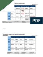 Horarios II Semestre 2017 Laboral Informática de Gestão