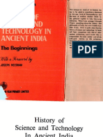 History of Science and Technology in Ancient India - The Beginnings - Chattopadhyaya (1986)