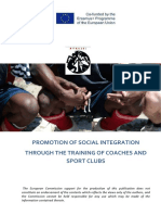 Promotion of social integration through the training of coaches and sport clubs