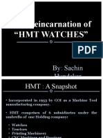 Relaunch of HMT Watches