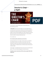 The Director's Chair - Going Again