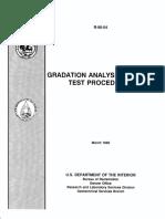 Gradation Analysis of Soils Test Procedure