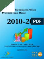 Proyeksi Penduduk Kabupaten Kota Provinsi Jawa Barat 2010 2020