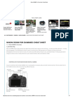 Nikon D3300 for Dummies Cheat Sheet