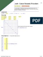 Linear Dynamic Procedure