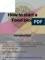 How to Start a Food Blog by Tips2blog.com