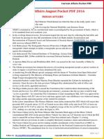 Current Affairs Pocket PDF - August 2016 by AffairsCloud.pdf