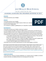 Molloy High School's  Academic Overview 2017