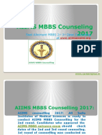 Aiims Mbbs Counseling 2017