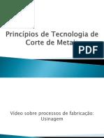Princípios de Tecnologia de Corte de Metais