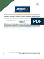 ESTUDO DIRIGIDO - Formacao Economica BR - Economia BR