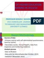 The state of higher education and training in Uganda  2013