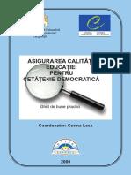 Asigurarea Calitatii Educatiei Pentru Cetatenie Democratica