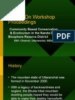 Report on Workshop Proceedings