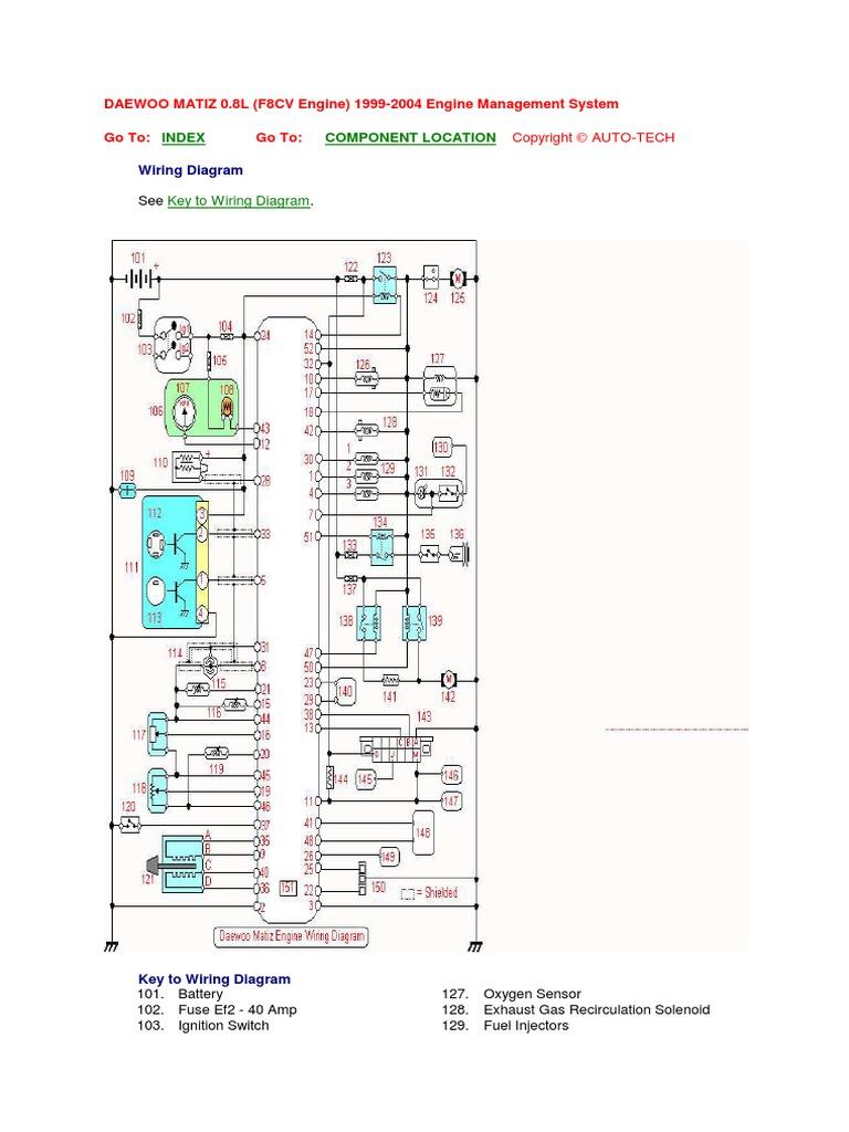 matiz engine wiring diagram pdf rh es scribd com Fuel System Diagram Fuel Injection System Diagram