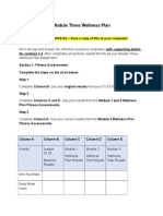 Module Three Wellness Plan
