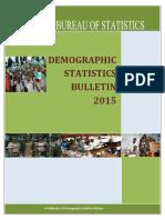 Demographic Statistics Bulletin 2015