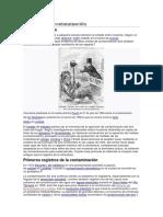 Historia de La Contaminación