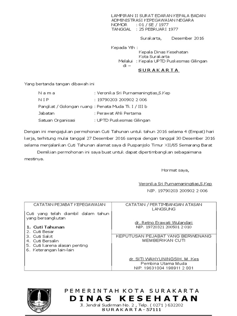 Surat Permohonan Cutidoc