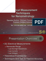 Electrical Measurement Techniques for Nanotechnology UNS