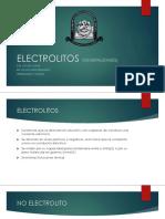 ELECTROLITOS (GENERALIDADES)