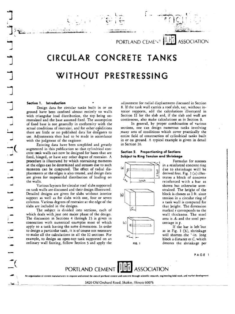 PCA CIRCULAR CONCRETE TANKS.pdf | Building Engineering | Elementary  Mathematics