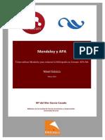Manual Mendeley y APA 1ª Edición, Marzo 2016