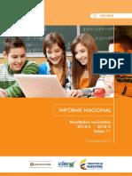 Informe Nacional de Resultados Saber 11 2014 - 2016