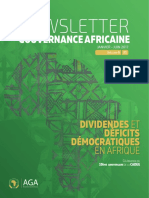 Dividendes et Deficits Democratique en Afrique - Newsletter Gouvernance Africaine - Jan-Juin 2017
