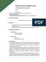 Informe de química