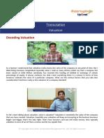 Transcription Valuation
