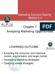 Chapter 7 - Analysing Market Opportunity