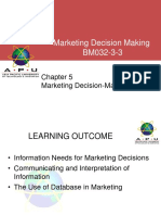 Chapter 5 - Marketing Decision-Making Info