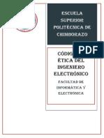 Codigo de Etica Del Ingeniero Electronico