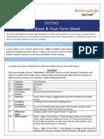 Summary_Term Sheet & Post Term Sheet