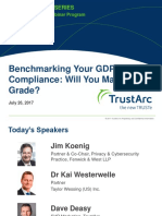 Benchmarking Your GDPR Compliance