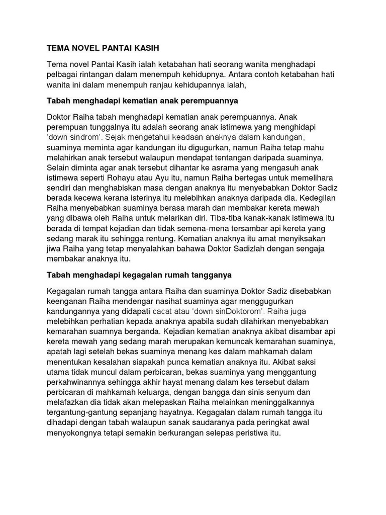 Contoh Soalan Novel Pantai Kasih Spm Kuora P