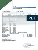 Revised Debit Note