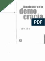 Galli - El Malestarde La Democracia