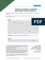 Dinapenia Sarcopenia e Mobilidade Funcional de Idosos Frageis
