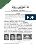 Management of Deep Bite Using Myofunctional Trainer