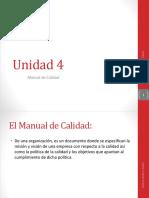 Unidad 4 b Manual de Calidad