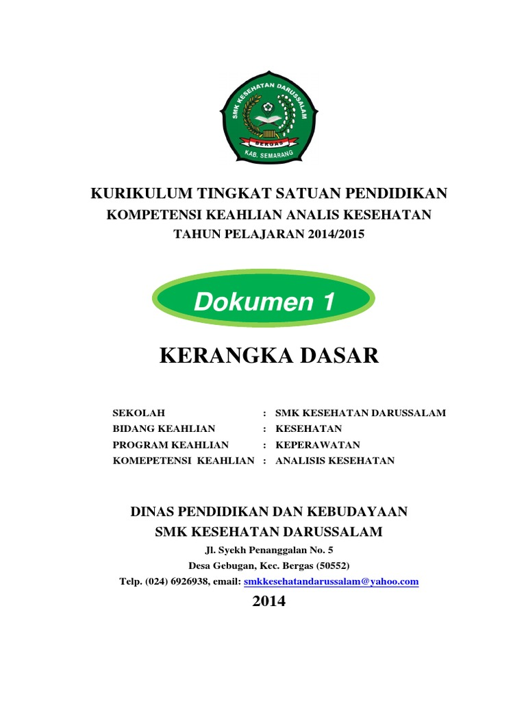 Contoh Dokumen 1 Kurikulum Pdf